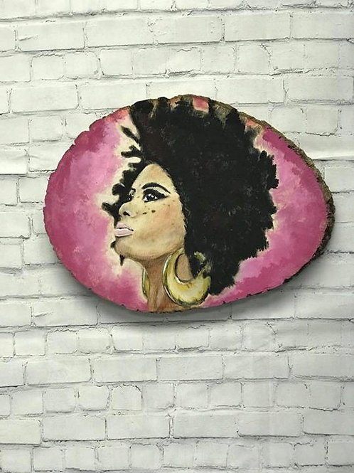 Acrylic on Wood Wall Art- Woman