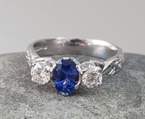 Livia Sapphire and Diamonds