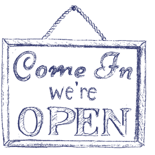 Come in, We're OPEN