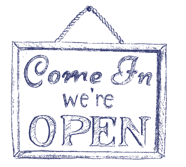Sign - Come In, We are open