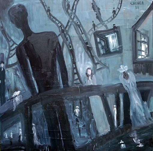"""#38 – oil on Canvas – 60""""X60"""" – En Soledad – 2011.jpg"""