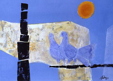 050-Jean Podevin-Blue Doves.jpg