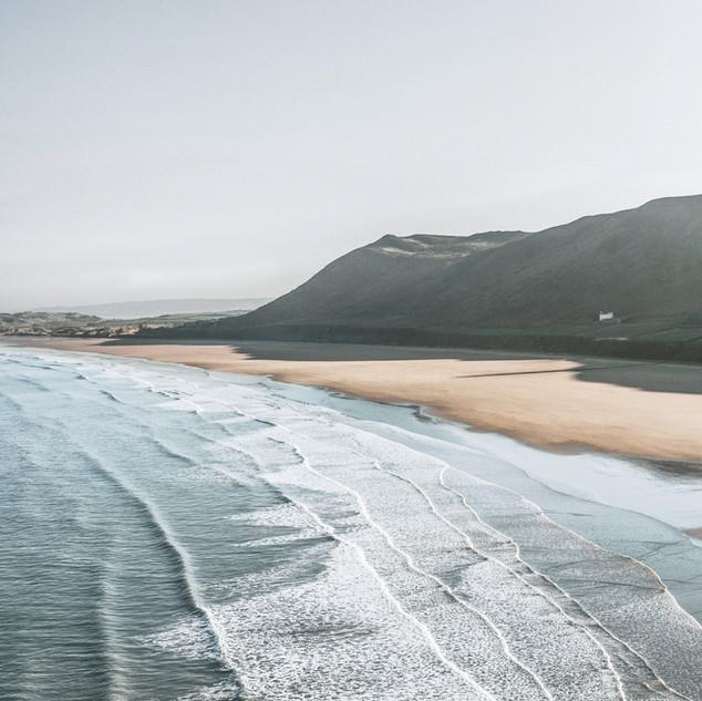 Die südafrikanische Küste in Kapstadt am Strand