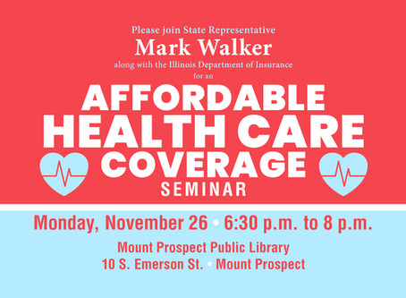"""Walker to Help Residents Learn About Health Care Coverage at """"Get Covered Illinois"""" Event"""
