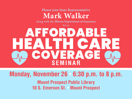 "Walker to Help Residents Learn About Health Care Coverage at ""Get Covered Illinois"" Event"