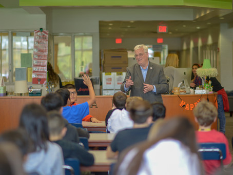 Rep. Walker Visits Local School, Teaches Students about State Government