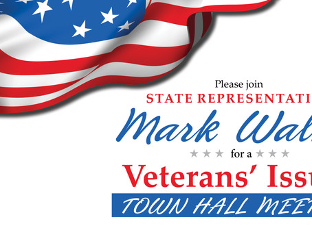 Walker Invites Area Veterans to Veterans' Issues Town Hall