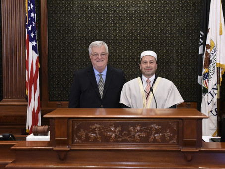 Rep. Walker Hosts Local Imam in Springfield for House Invocation