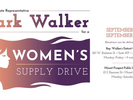 Walker Organizes Women's Supply Drive to Benefit Local Crisis Intervention Organization