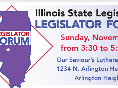 Rep. Walker to Participate in Upcoming Legislator Forum Nov. 3 at Our Saviour's Lutheran Church