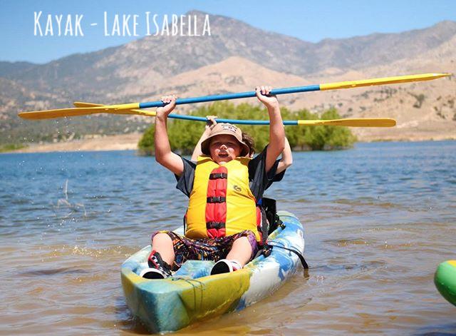 Kayaking on Lake Isabella.