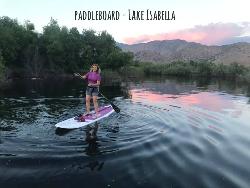 Paddleboard on tranquil Lake Isabella.