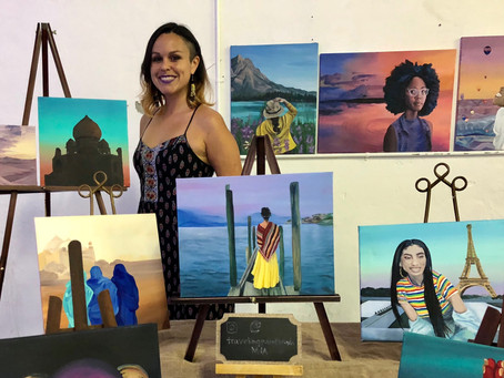 Press Release - Traveling Painter Uses Work For Larger Purpose!