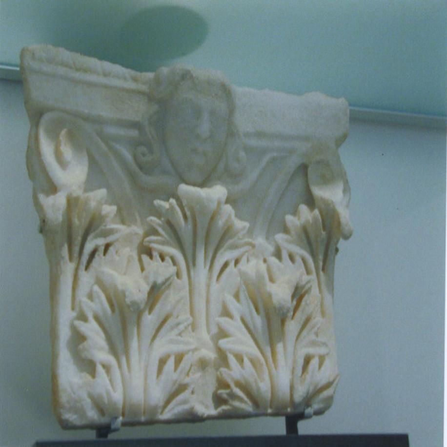 Roman Marble Corinthian Pilaster Capital