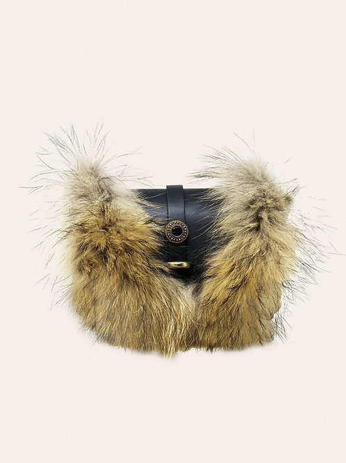 Small Bubble Fur Leather Bag