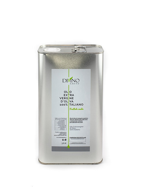 Extra Virgin Olive Oil Divino Gusto - 3Lt Tin Box