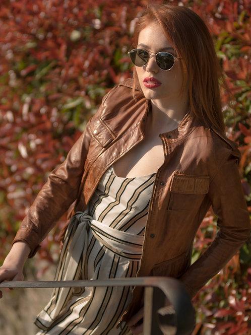 Tushna Vintage Leather Jacket