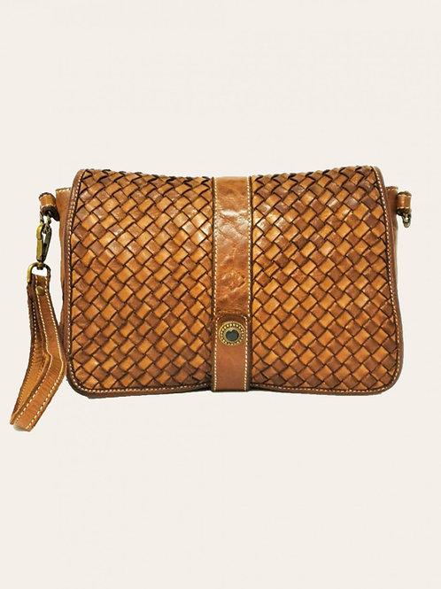 V003 Gold Intreccio Small size Leather Bag