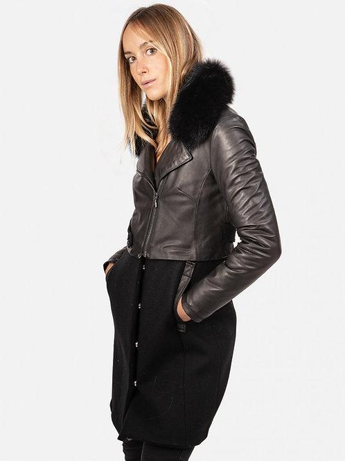 Imma Wool Jacket with fur collar