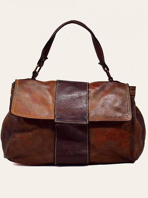 Carrara Two-Tone Leather Bag