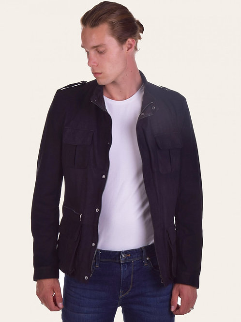 Francesco Nabuk two-tone Leather Jacket