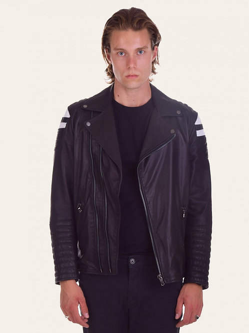 Chiodo Matteo two-tone Leather Jacket