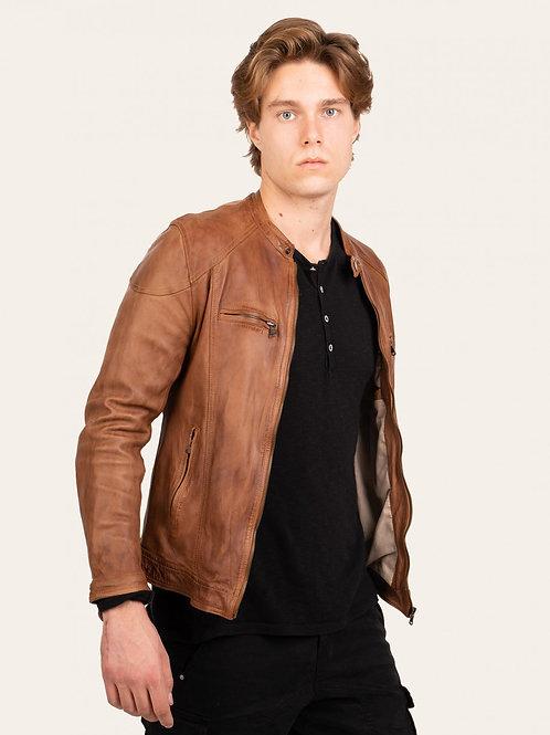 Elton Gold Vintage Leather Jacket