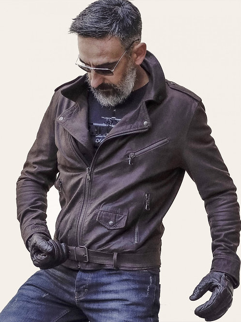 Chiodo Uomo Oleato Leather Jacket