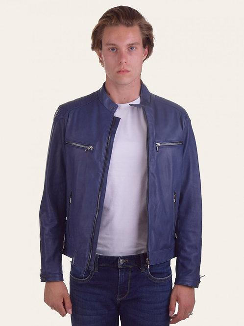 Blue Nappa Michele Jacket