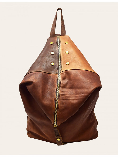 Electra two-tones Leather Backpack