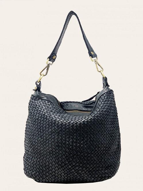 Secchiello Intreccio Leather Bag