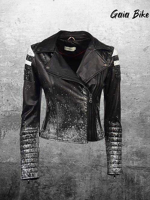 Gaia Bike dripping Leather Jacket