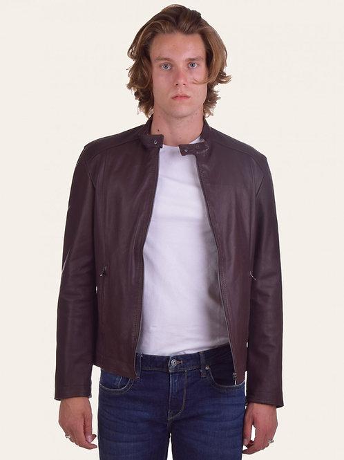 Dark Brown Leather Massi Jacket