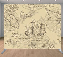 Pirate Backdrop and props