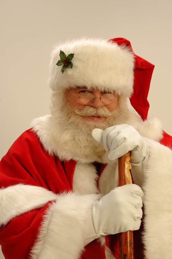 Santa Rick with hat