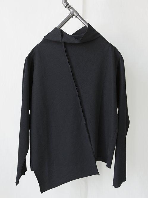 GRAZ high neck jersey sweater