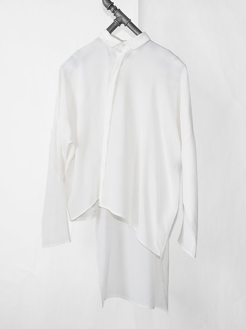 ANTWERP asymmetrical silk blouse
