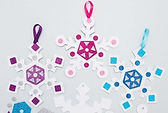 They say every snowflake is unique and kids will certainly create unique snowflakes with stickers, rhinestones and more!