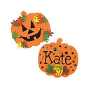 Kids can create 2 flat foam pumpkins with this craft.  Whether jack-o-lantern inspired or decorative, each pumpkin will be one of a kind!