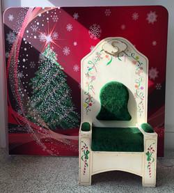Backdrop and Santa Chair