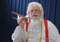 Santa Rick makes toys