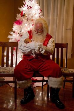Santa Rick with baby