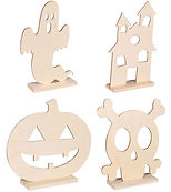 Kids can choose one of these fun wooden cutouts and color them with markers or paint (your choice) and display it proudly at home!
