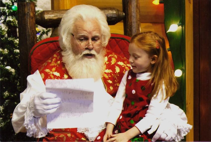 Santa Rick with little girl