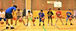 guys working on their ball handling skills