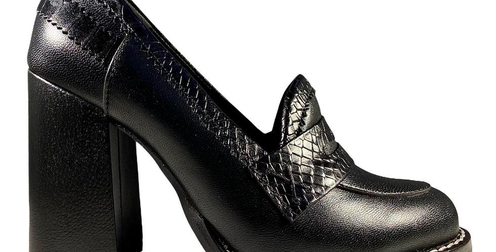Zapato Tacón Ancho - 6651-2