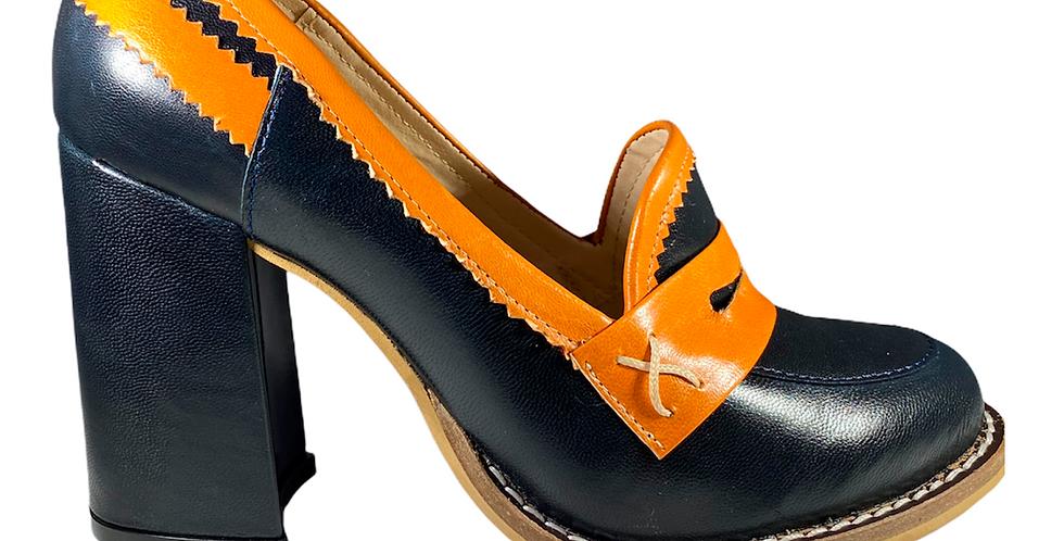 Zapato Tacón Ancho - 6651-4