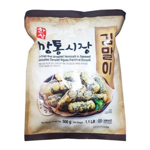 김말이 Par-Fried And Wrapped Seaweed Roll 500g