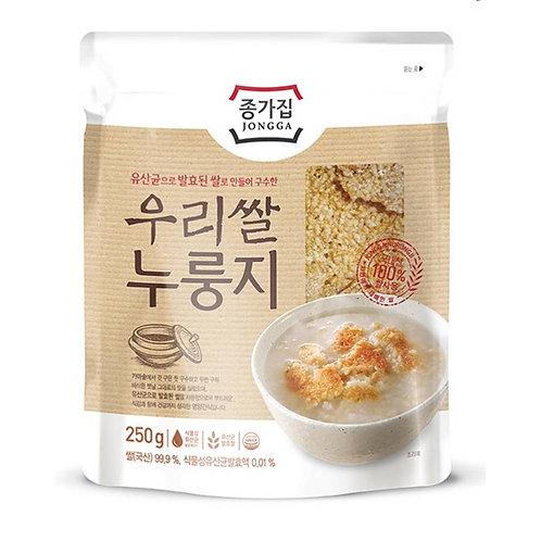 250g 종가집 우리쌀 누룽지/ Jongga Cooked Rice Crust