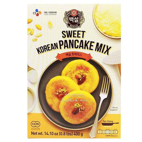 400g 백설 녹차맛  호떡믹스/Sweet Korean Pancake Mix, Green Tea pancake Mix